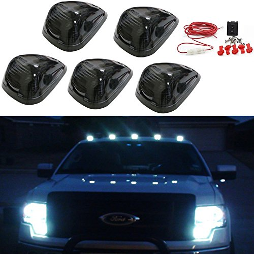 Carrep 5x Smoked Cab Roof Top Marker Running Lamps